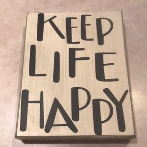 🎃 5 for $15 sale! Keep Life Happy sign